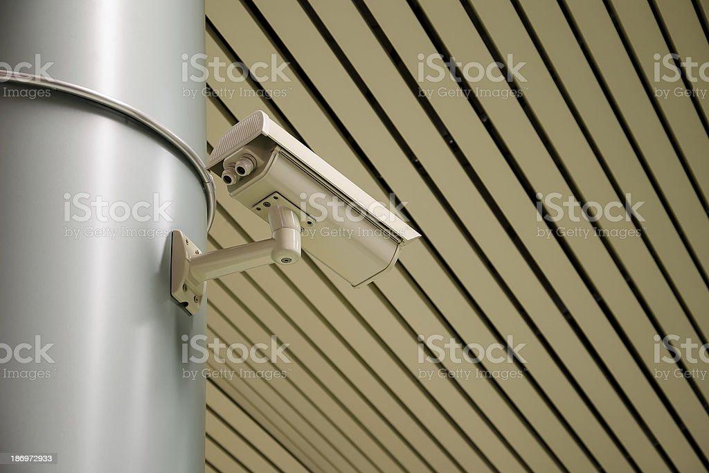 Overhead security camera at a subway station, Sofia, Bulgaria royalty-free stock photo