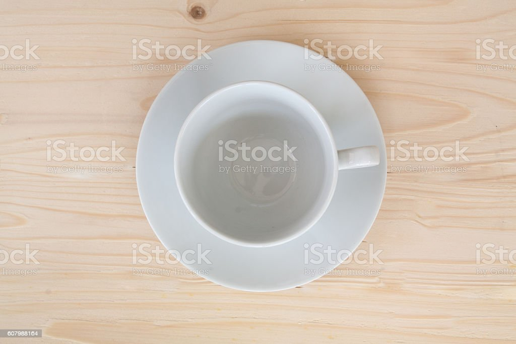 overhead view of an empty stock photo