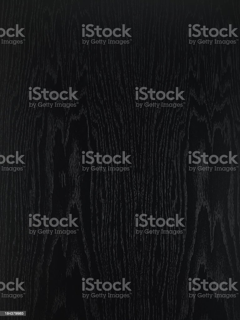 Overhead view of black wooden table stock photo
