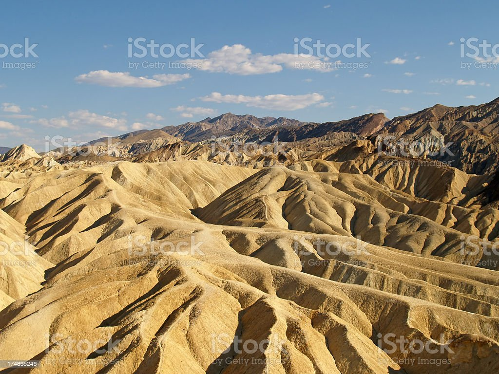 Overhead view of Death Valley National Park stock photo