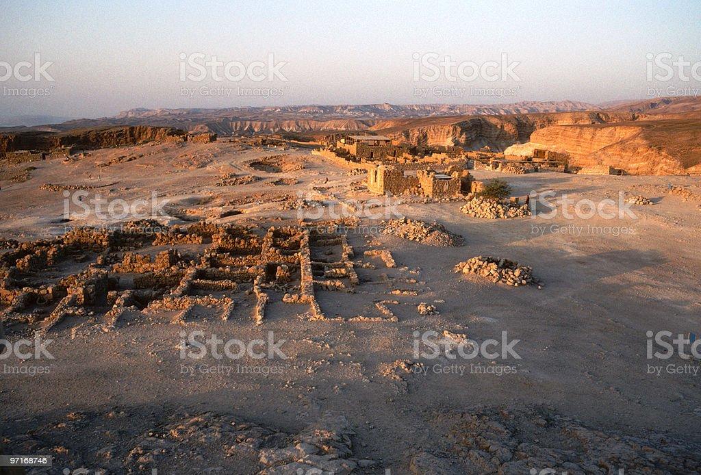 Overhead view of Masada stock photo