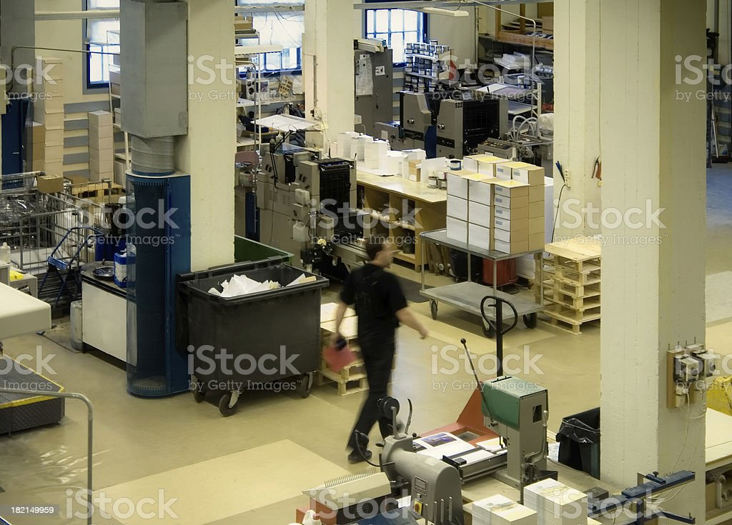 Overhead View of Print Shop royalty-free stock photo