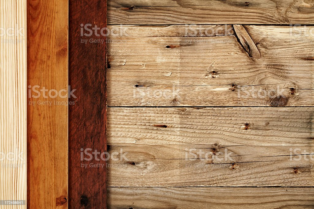 Overhead view of wooden floors royalty-free stock photo