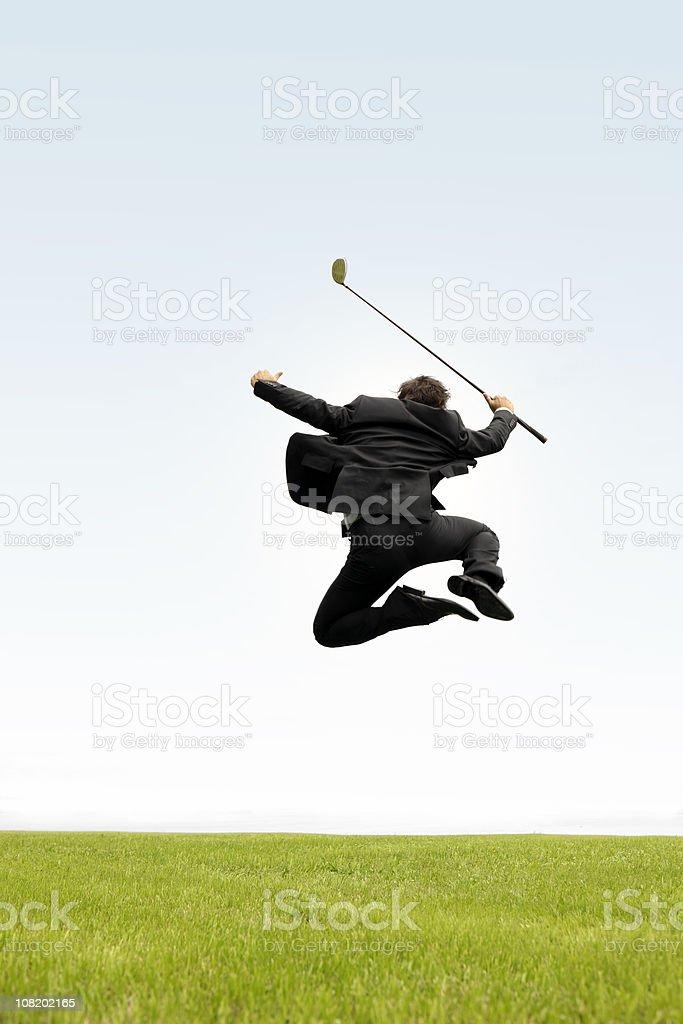 Overjoyed Business Golfer royalty-free stock photo