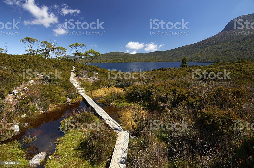 Overland Track, Tasmania stock photo