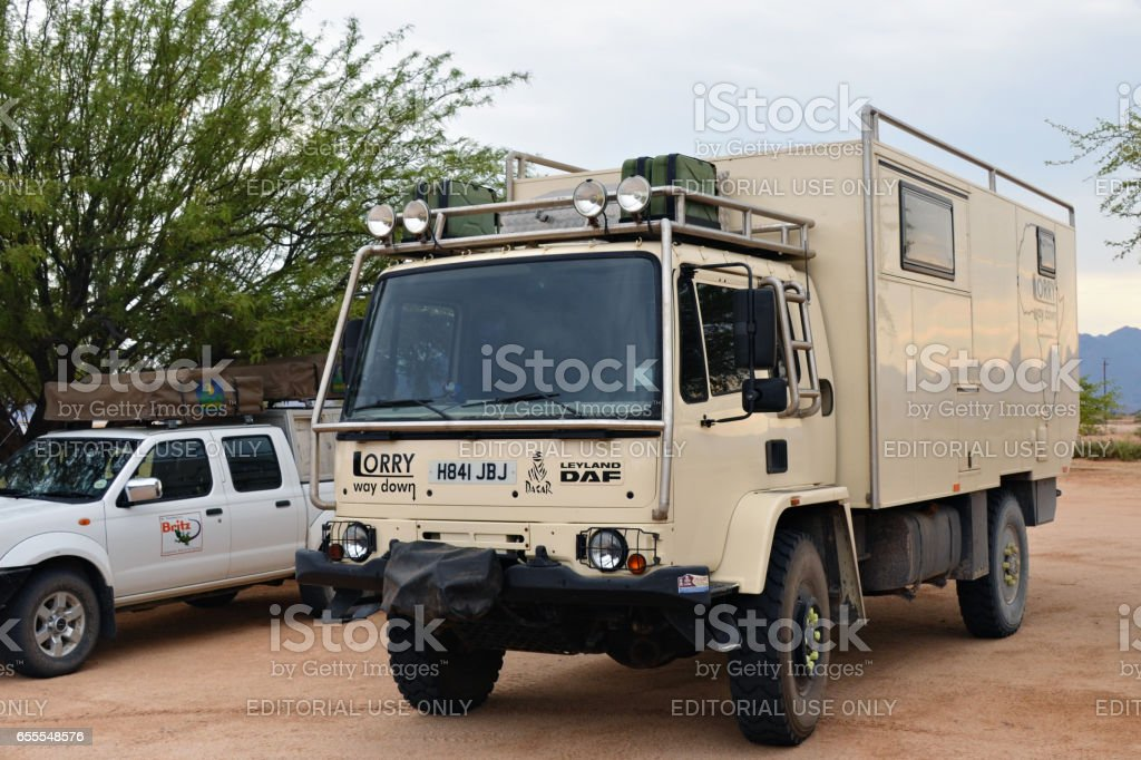 Overlanding in Namibia, Africa stock photo
