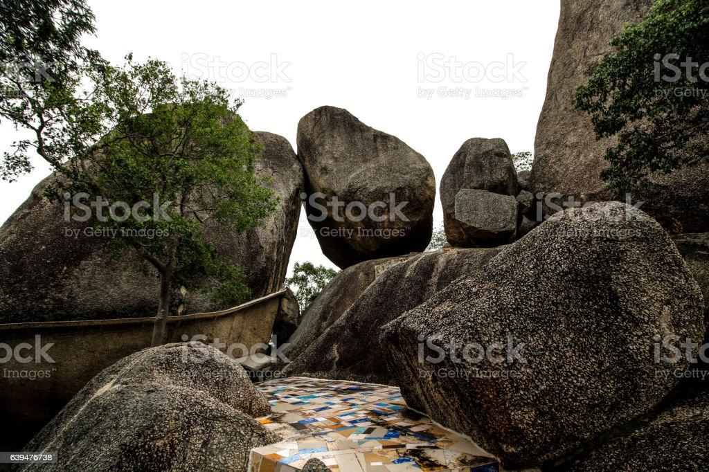 overlap stones stock photo