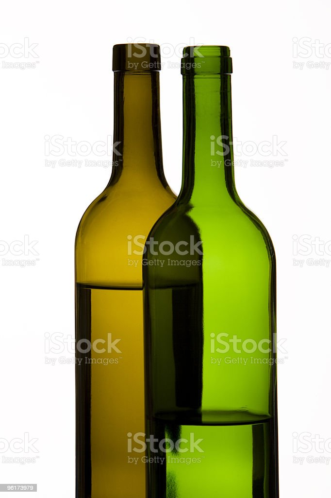 Overlapping Bottles royalty-free stock photo