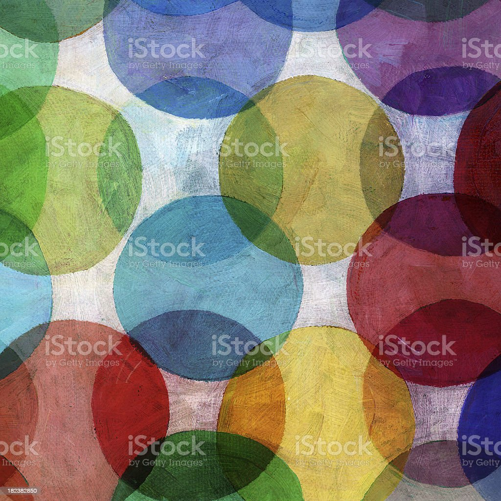 Overlapping Circle Pattern vector art illustration