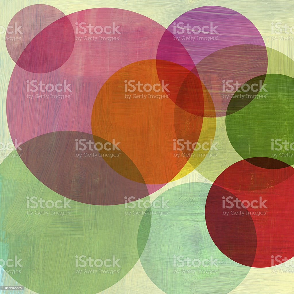 Overlapping Circles vector art illustration