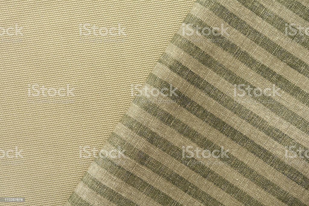 Overlapping fabric textures stock photo