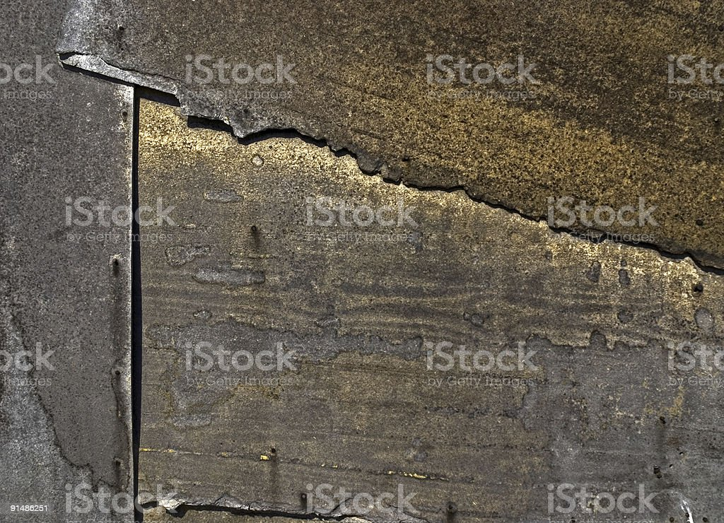Overlapping Sheets of Metal royalty-free stock photo