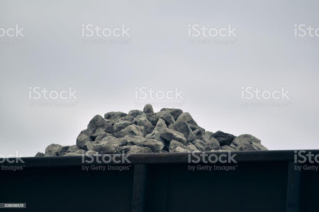 Overloaded Traincar royalty-free stock photo