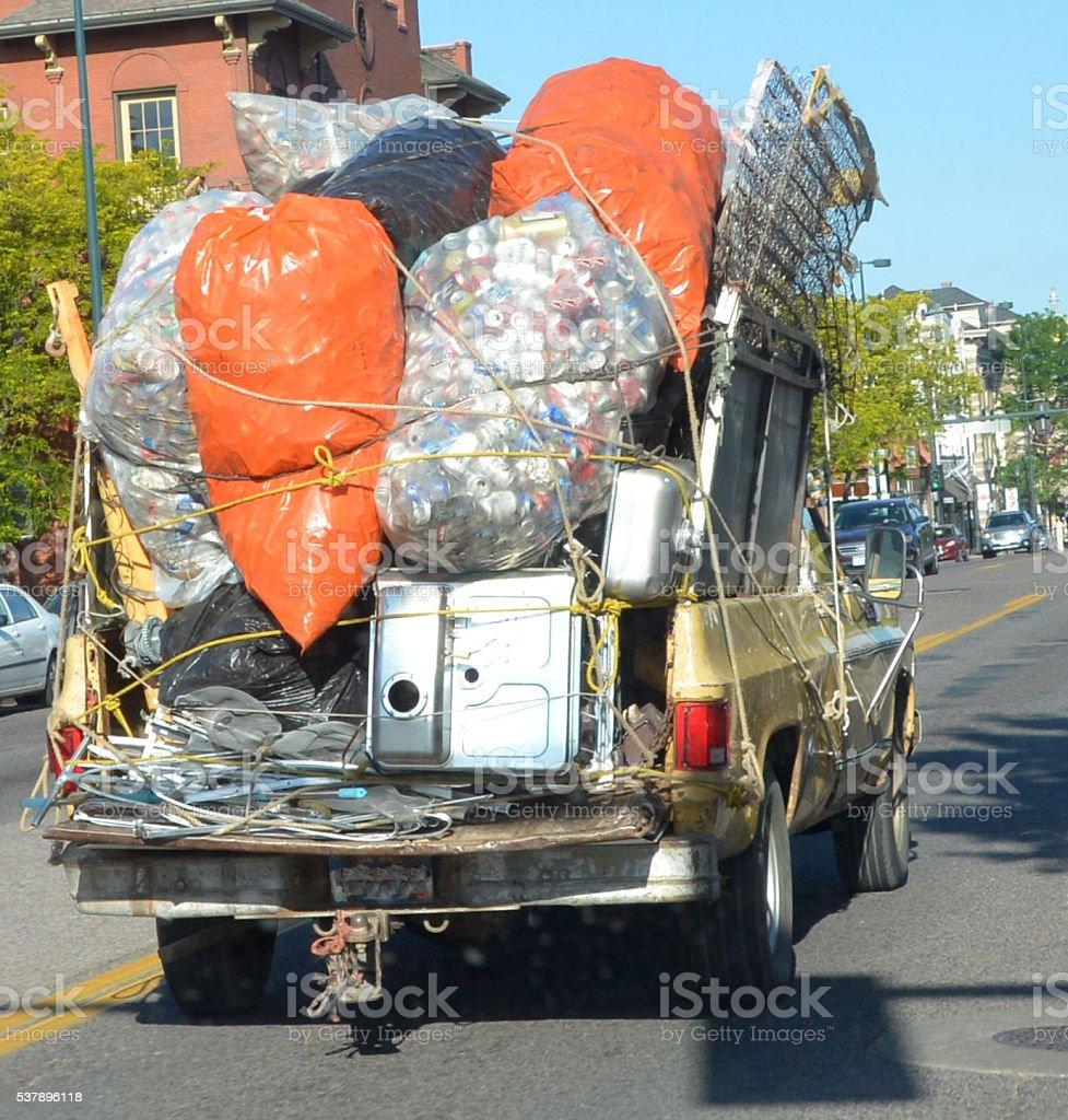 Overloaded Truck stock photo