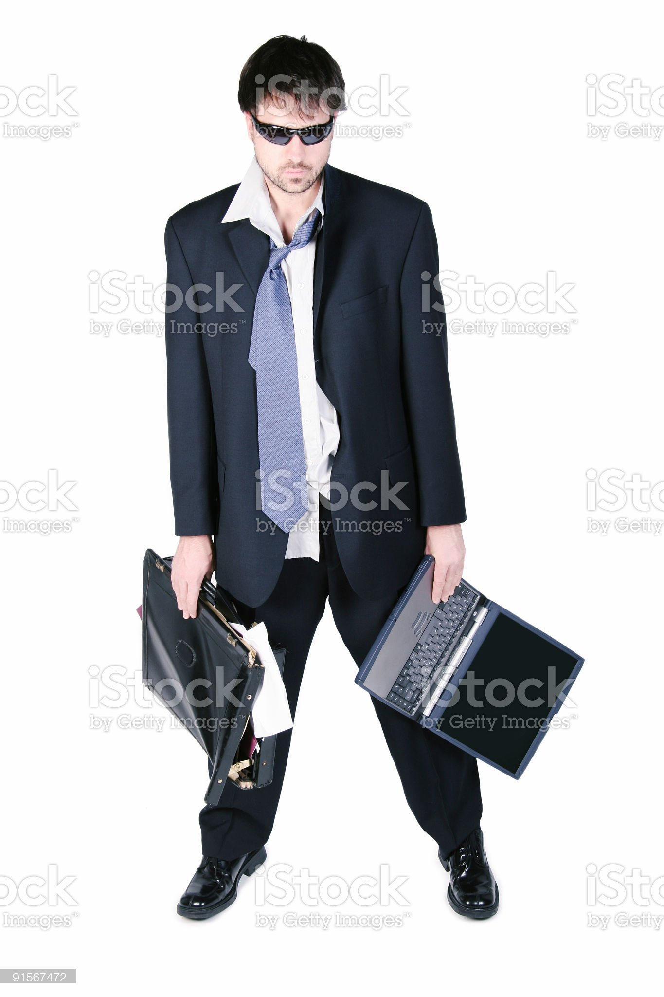 OverLoaded worker royalty-free stock photo