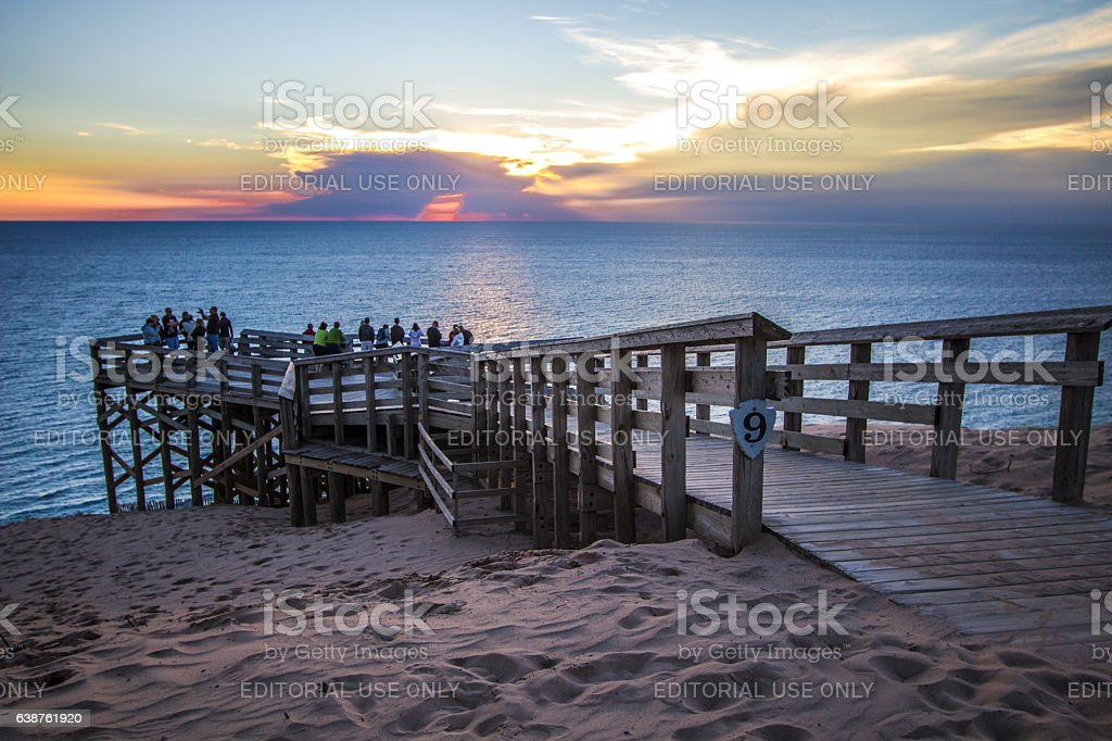 Overlook At Sleeping Bear Dunes National Lakeshore stock photo