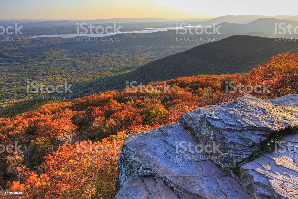 Overlook Mountain Sunset stock photo