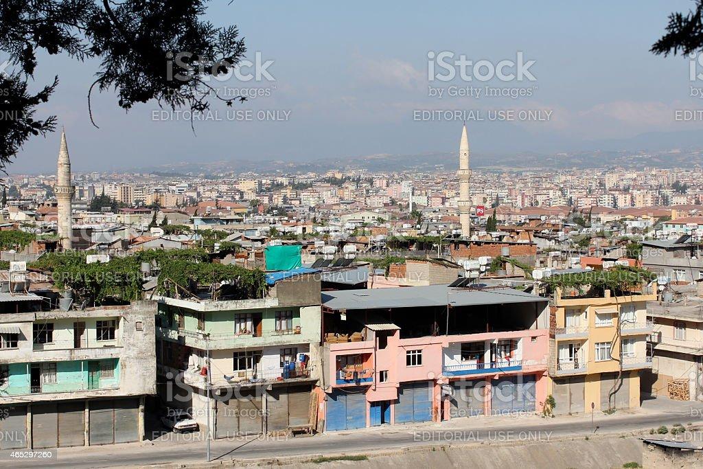 Overlooking Antakya stock photo
