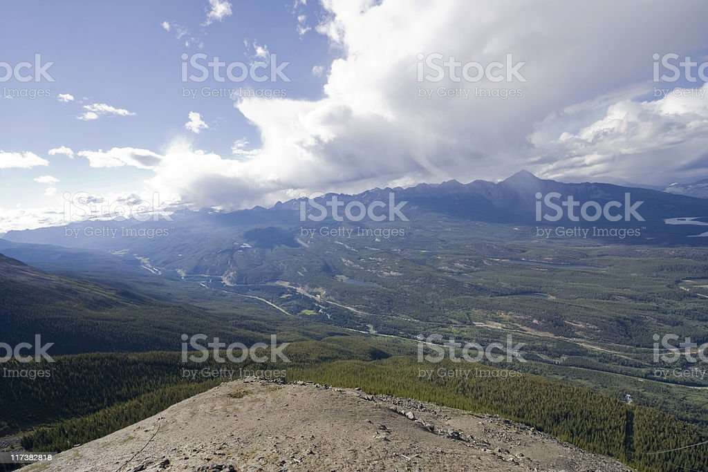overlooking athabasca valley from mount whistler royalty-free stock photo