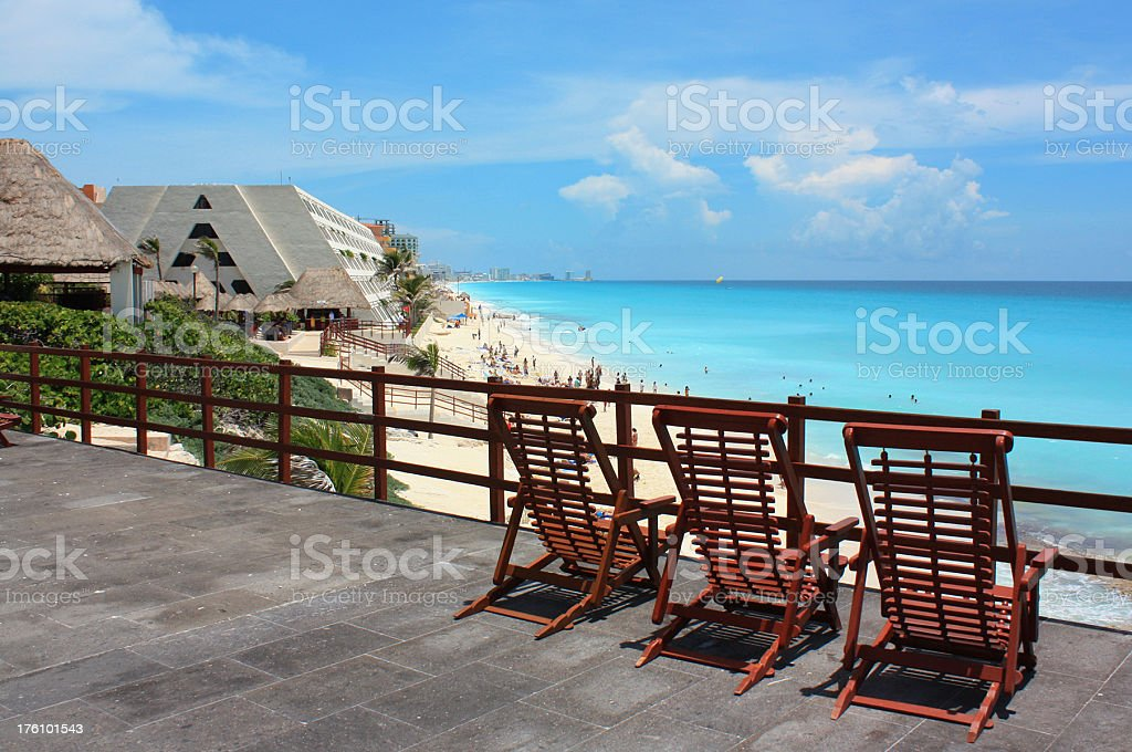 Overlooking Cancun royalty-free stock photo