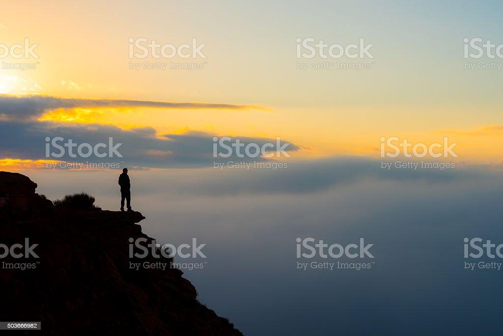 Overlooking Foggy Valley stock photo