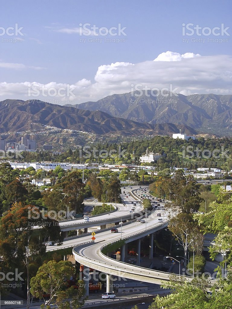 Overlooking Glendale stock photo