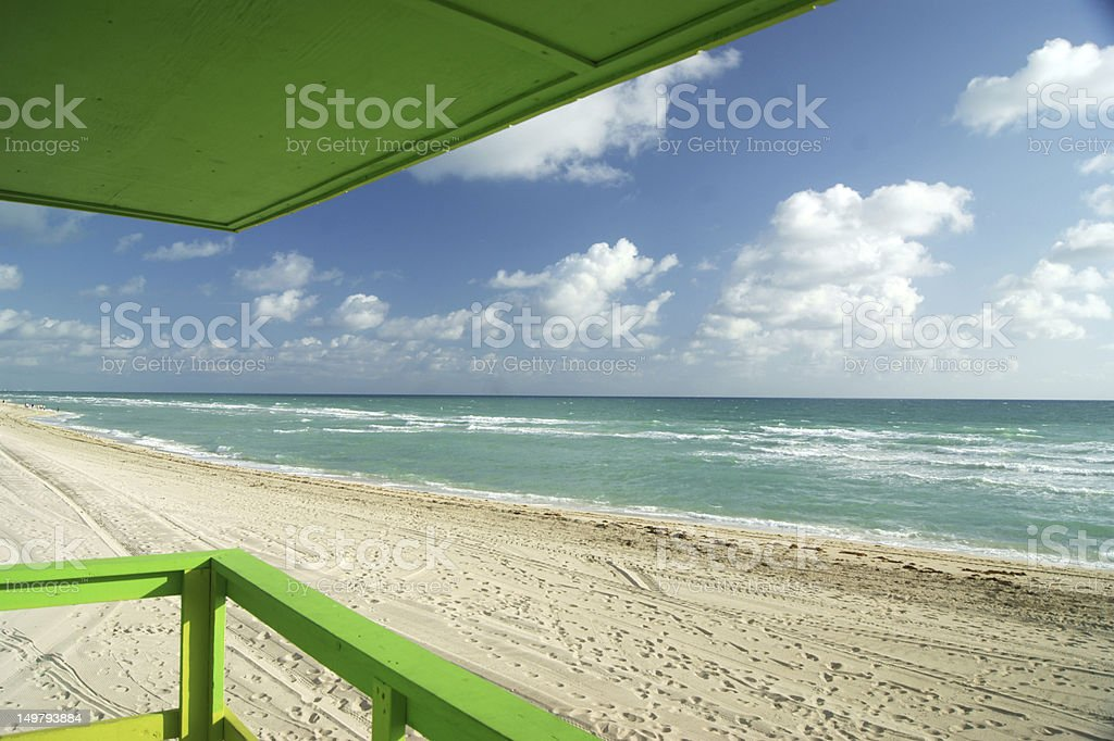 Overlooking Green Deck at Miami Beach royalty-free stock photo