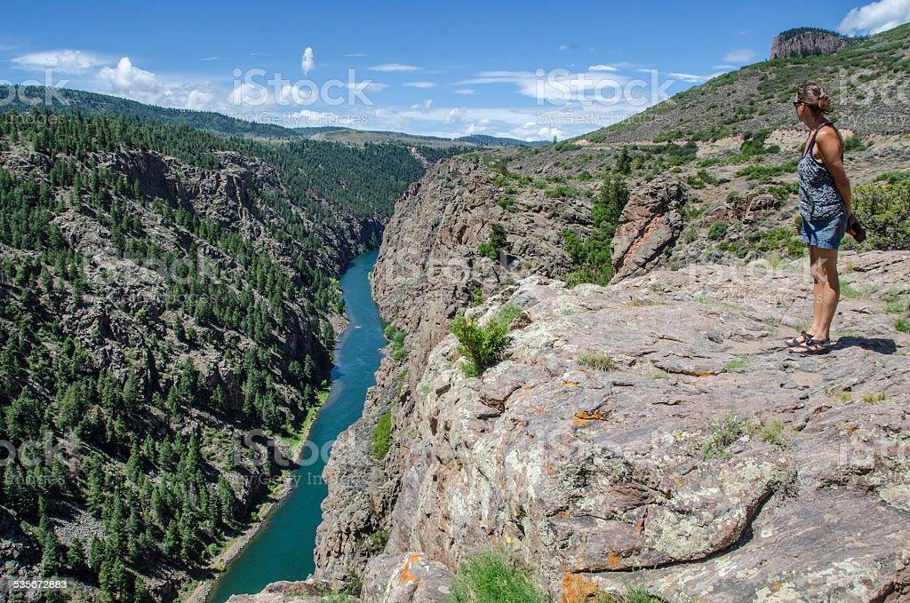 Overlooking Gunnison River stock photo