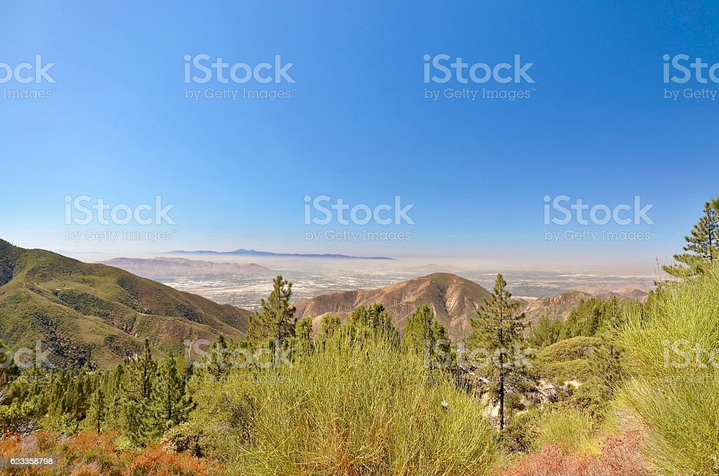 Overlooking Lucerne Valley stock photo