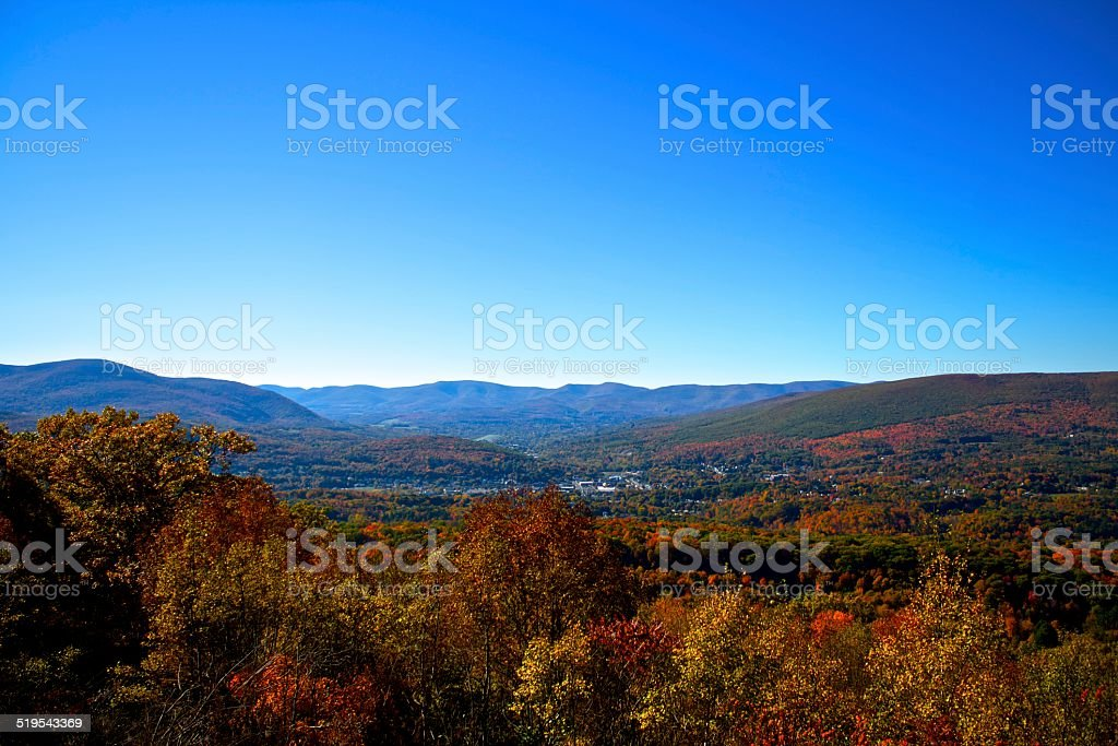 Overlooking North Adams, Massachusetts stock photo