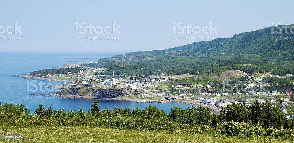 Overlooking Petite Valle stock photo