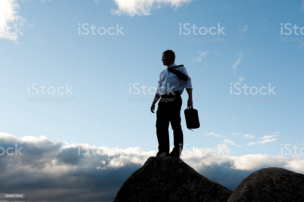 overlooking royalty-free stock photo