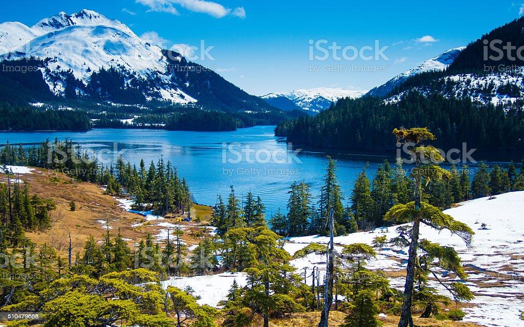 Overlooking Prince William Sound stock photo