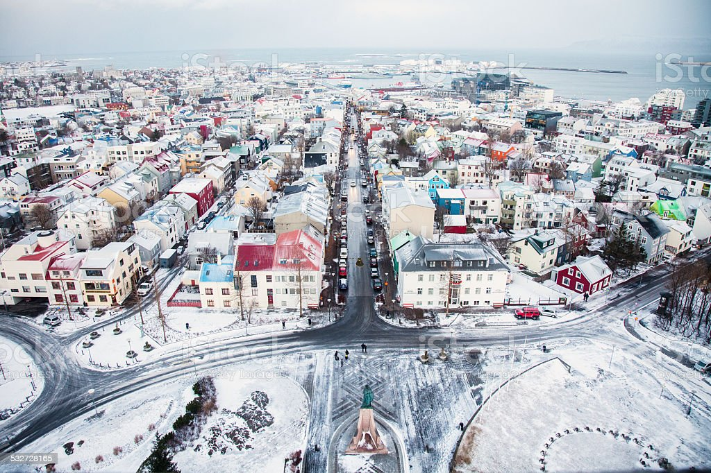Overlooking Reykjavik stock photo