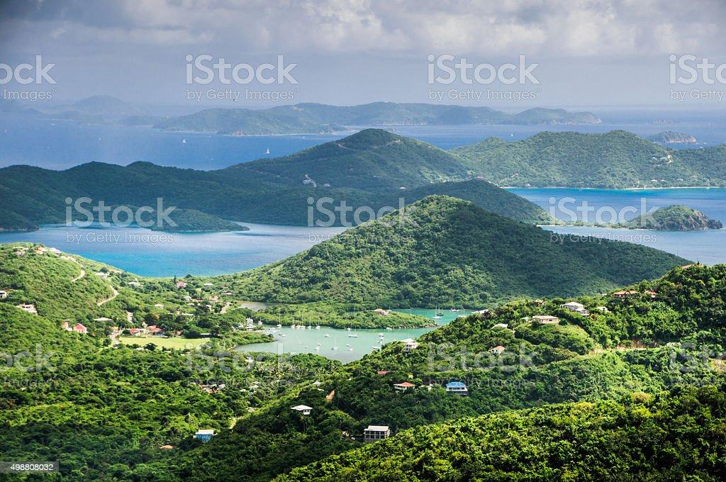 Overlooking Saint John USVI stock photo