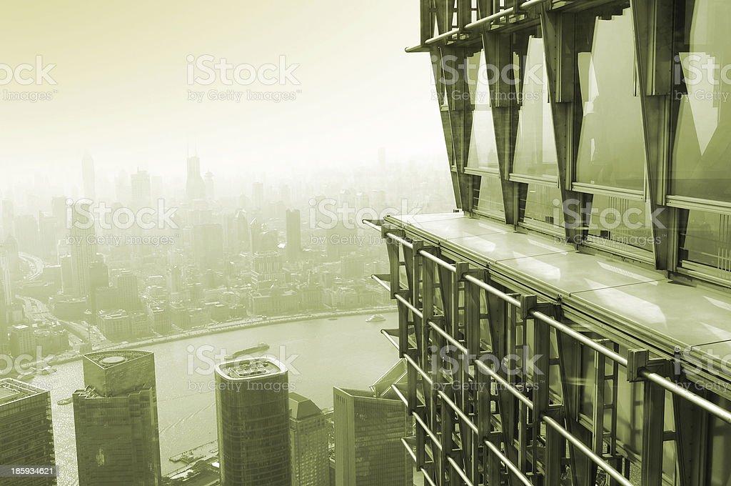 Overlooking shanghai royalty-free stock photo