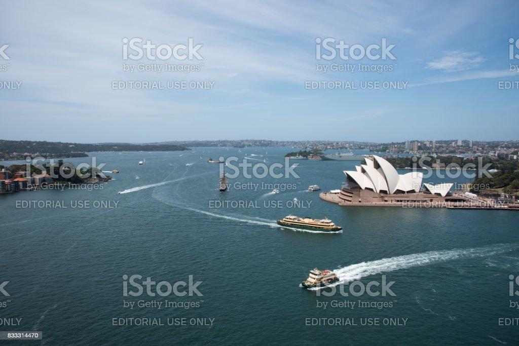 Overlooking Sydney Harbour stock photo