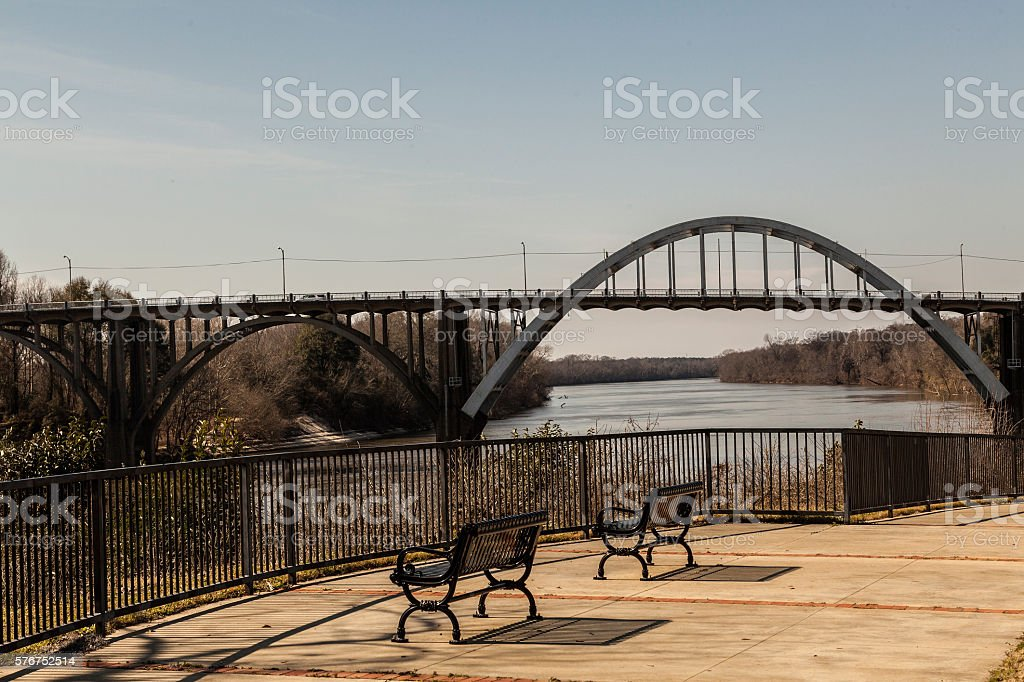 Overlooking the Alabama River stock photo