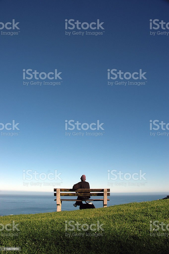 Overlooking the Atlantic royalty-free stock photo