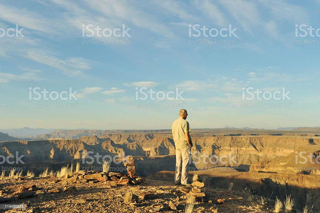Overlooking the canyon royalty-free stock photo