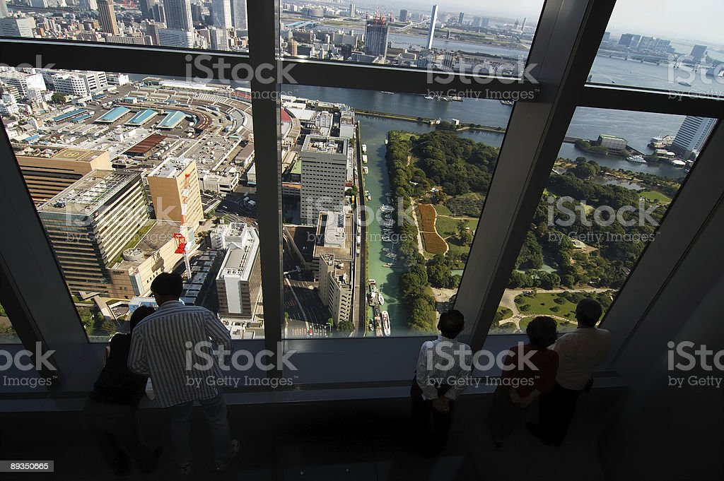 Overlooking the city royalty-free stock photo