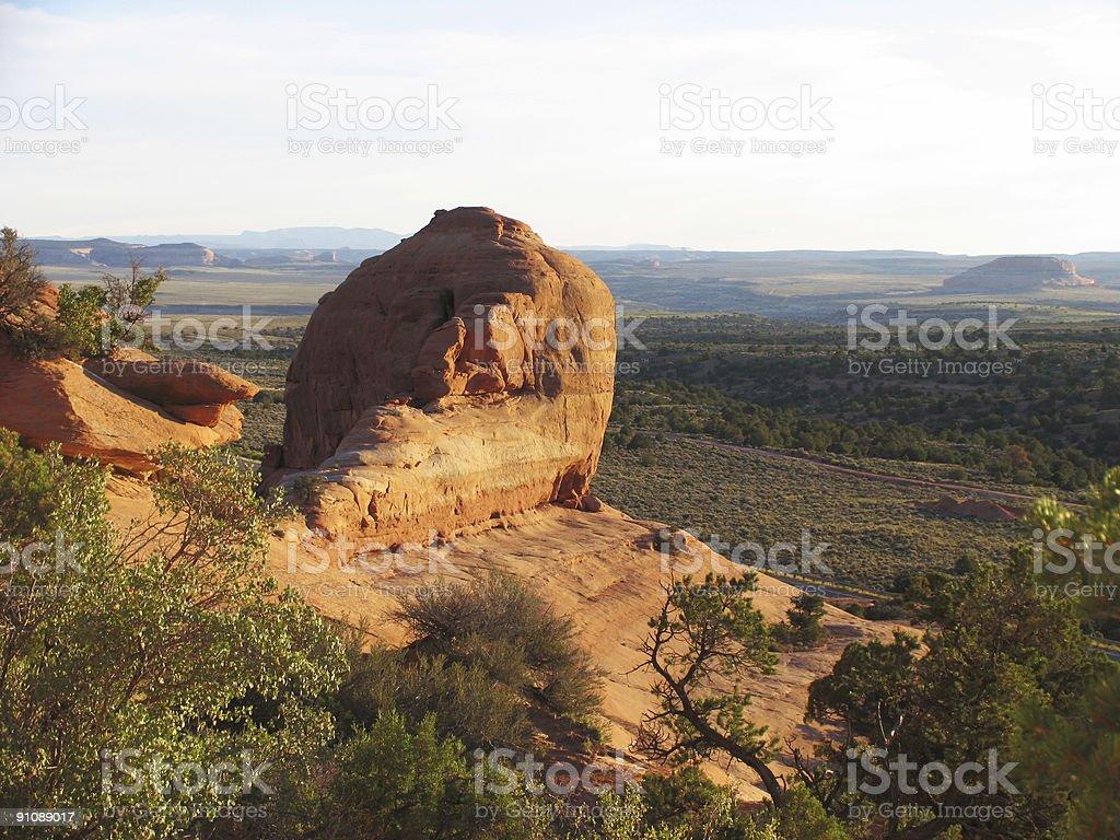 overlooking the desert in southern utah stock photo