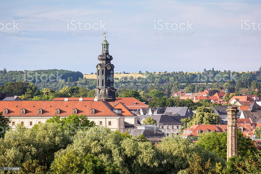 Overlooking the famous German city of Weimar stock photo
