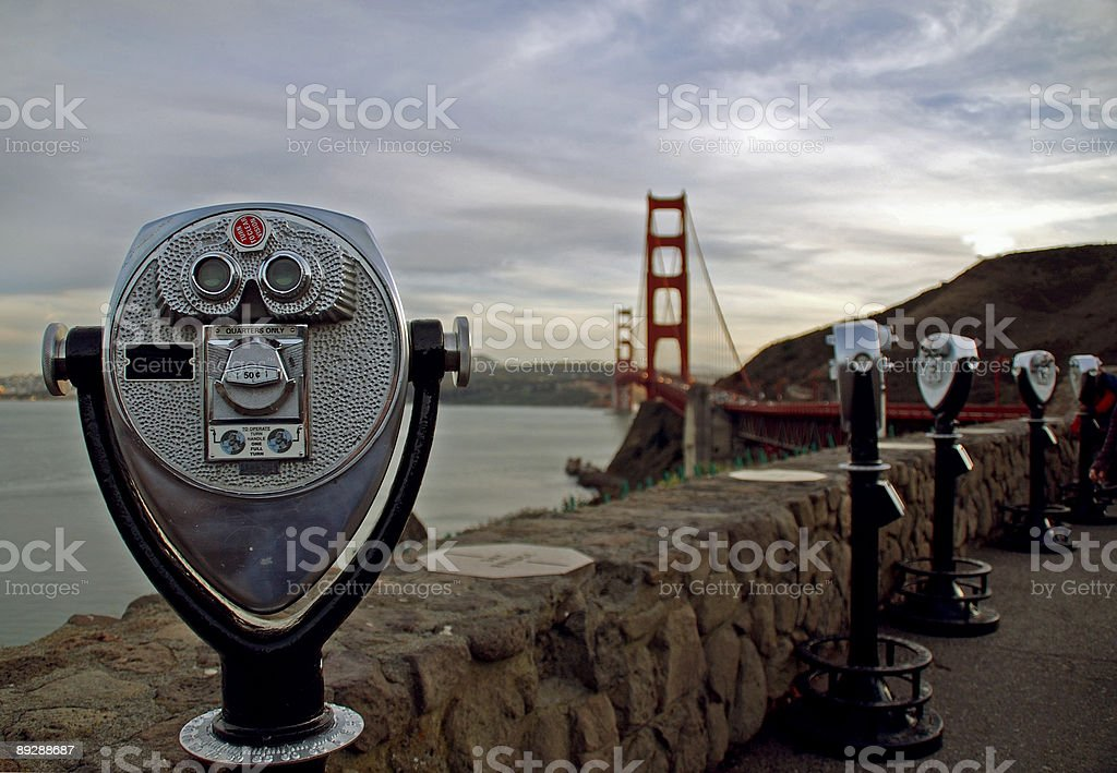 Overlooking the Golden Gate stock photo
