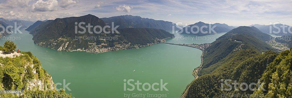 Overlooking the Italian Lake District. stock photo