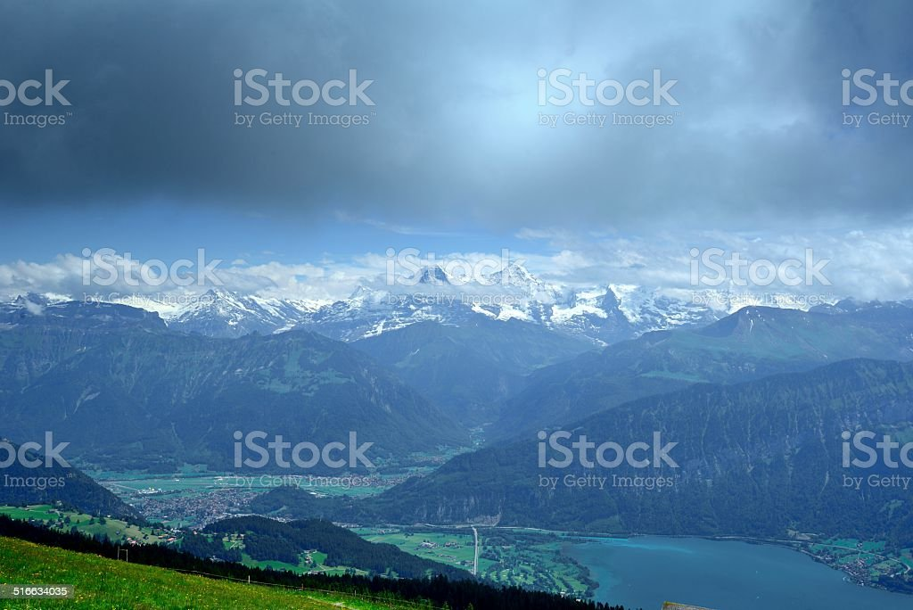 Overlooking the Jungfrau mountains 04 stock photo