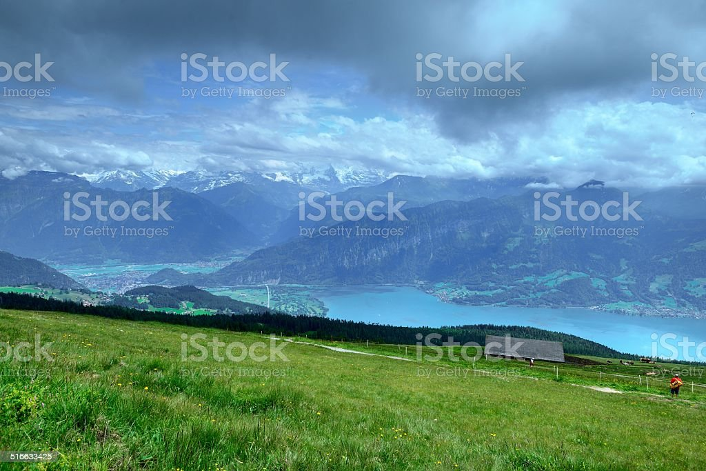 Overlooking the Jungfrau mountains 05 stock photo