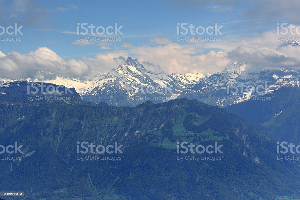 Overlooking the Jungfrau mountains stock photo