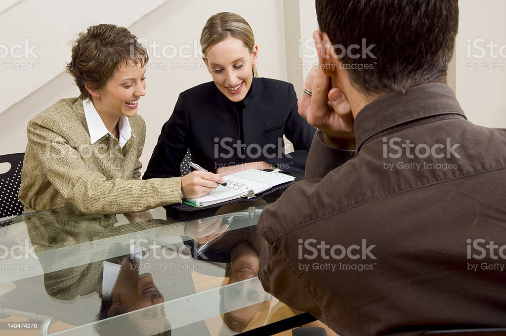 Overlooking the meeting royalty-free stock photo