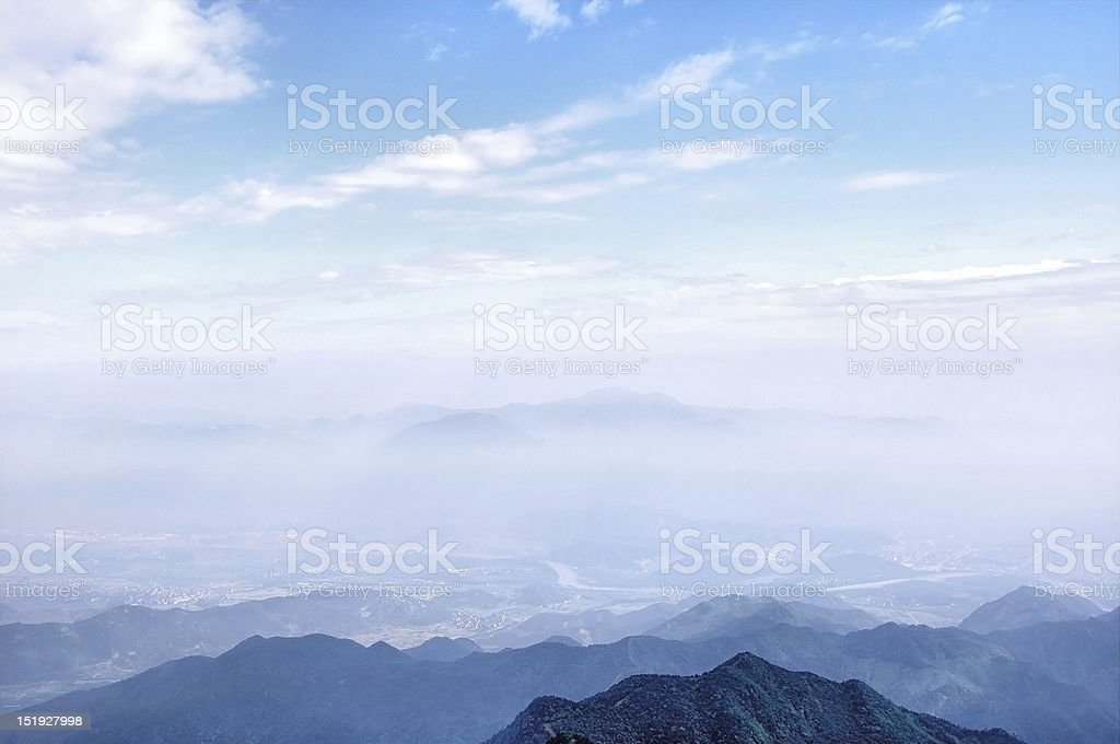 Overlooking the mountains stock photo